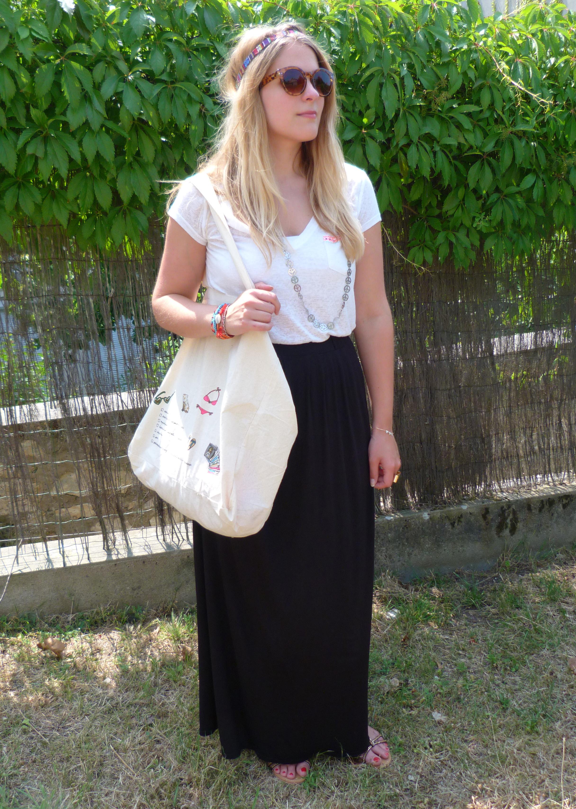 Look festival outfit prettylittletruth blog de fille - Quel haut porter avec une jupe longue ...